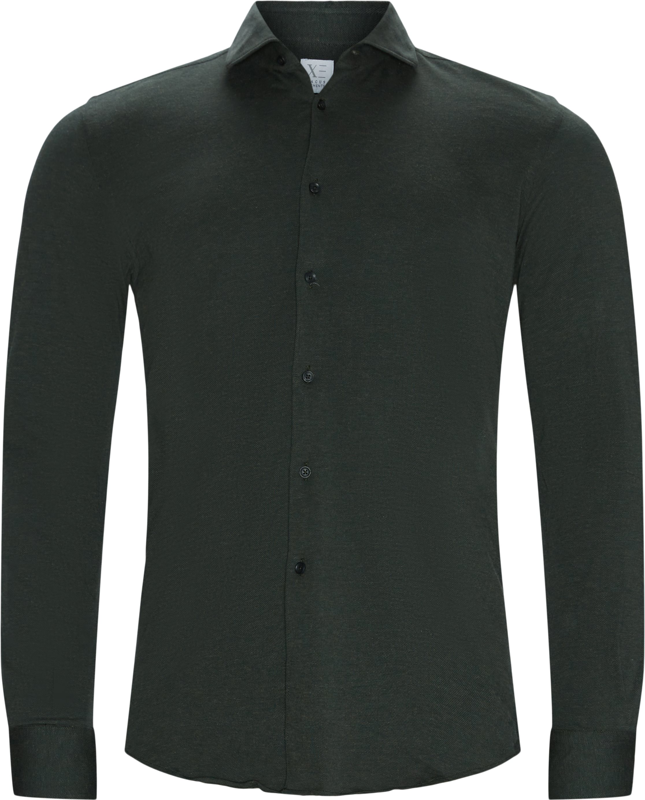 Classic Cotton Shirt - Skjorter - Slim fit - Grøn