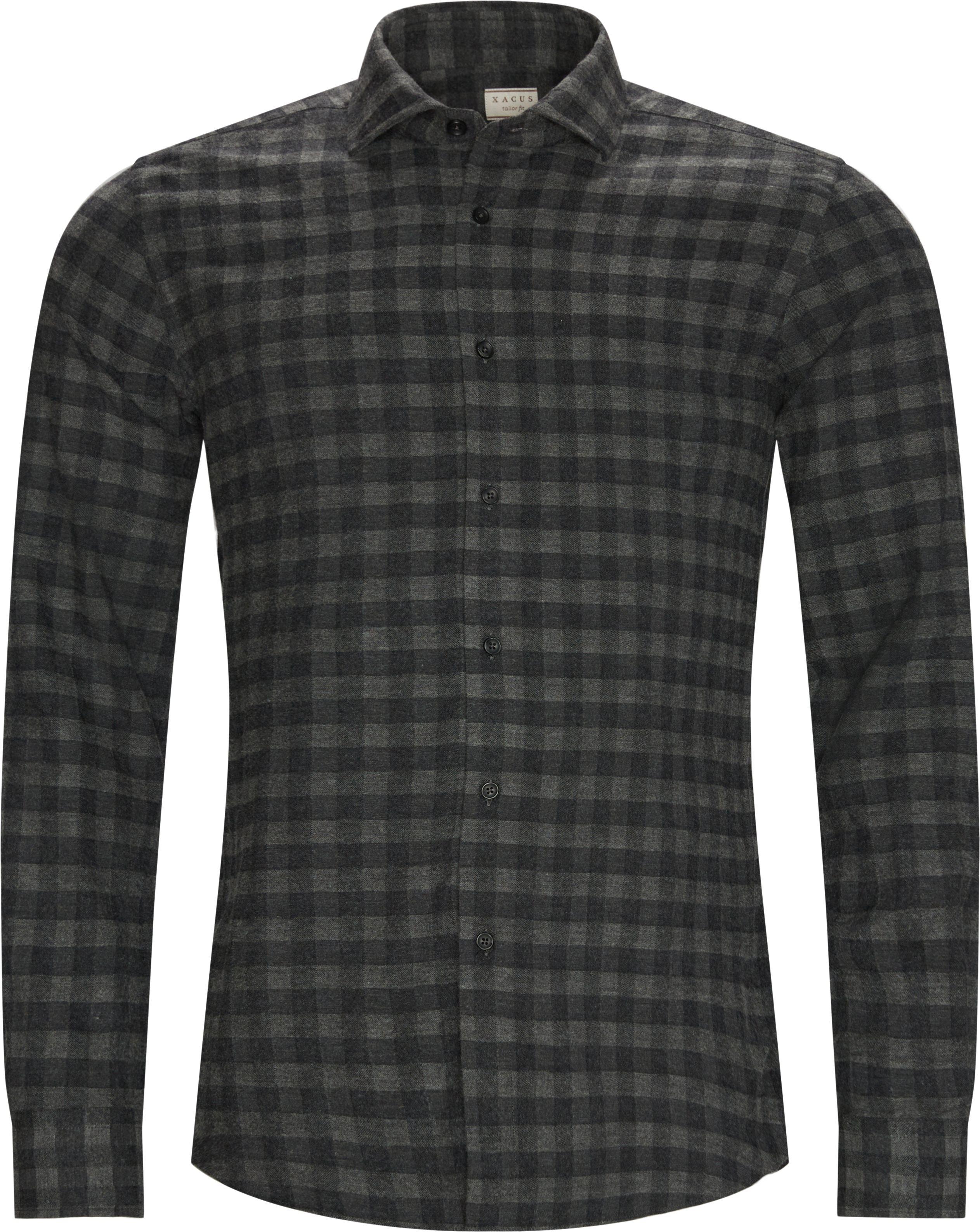Check Shirt - Skjorter - Tailored fit - Grå