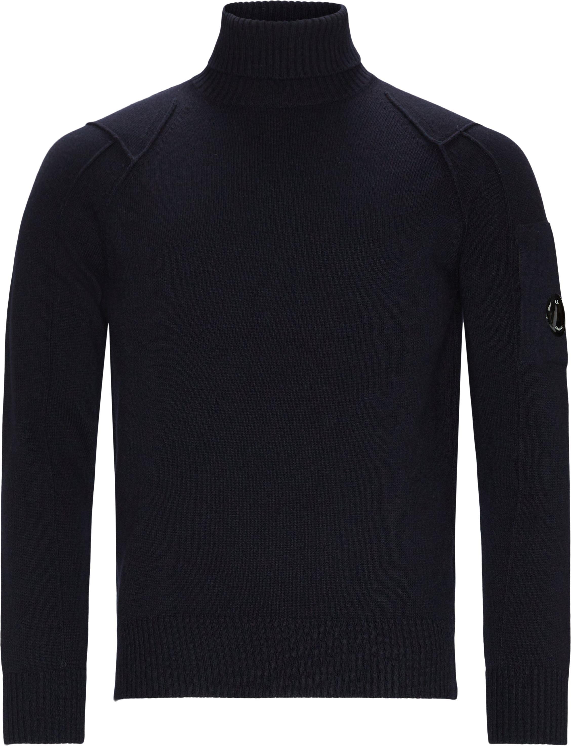 Rollneck Knit - Strik - Regular fit - Blå