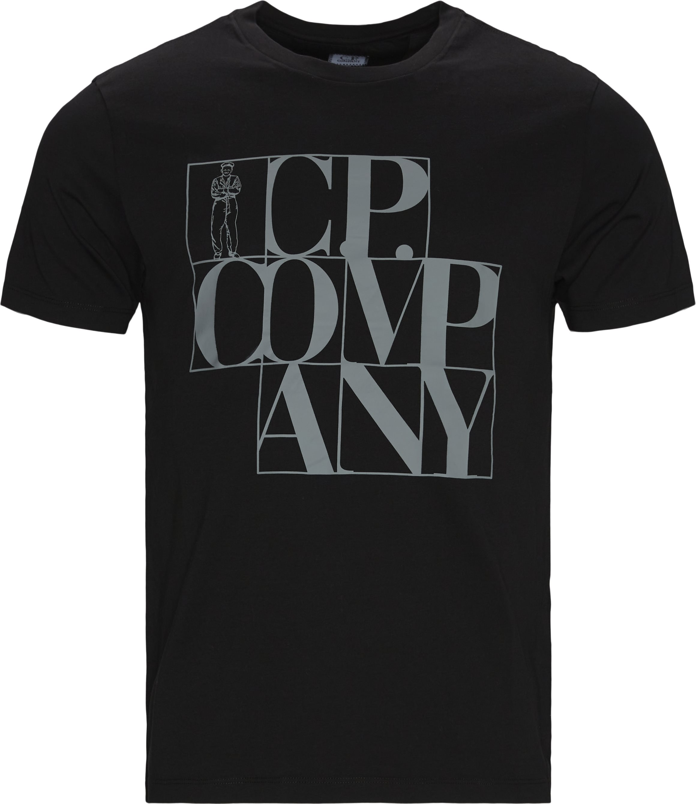 Print Tee - T-shirts - Regular fit - Sort