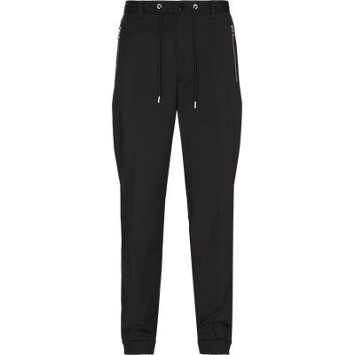 Classic Zip Pants Regular fit | Classic Zip Pants | Sort