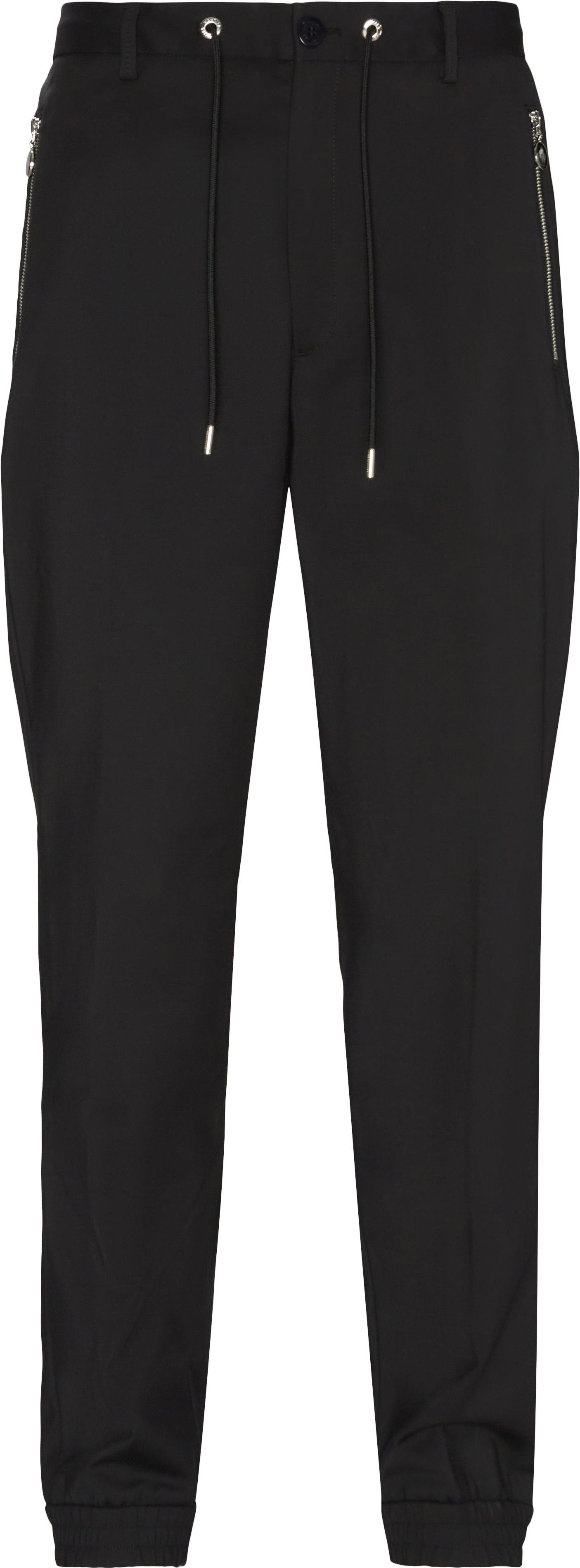 Trousers - Regular fit - Black