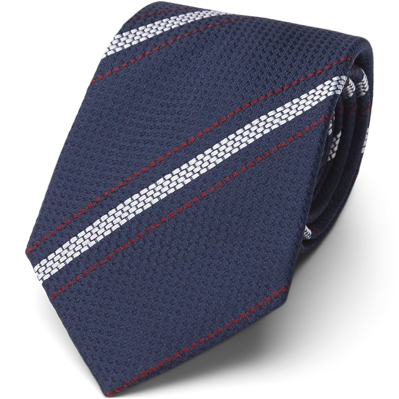 An Ivy - TEXTURED NAVY WHITE RED Slips