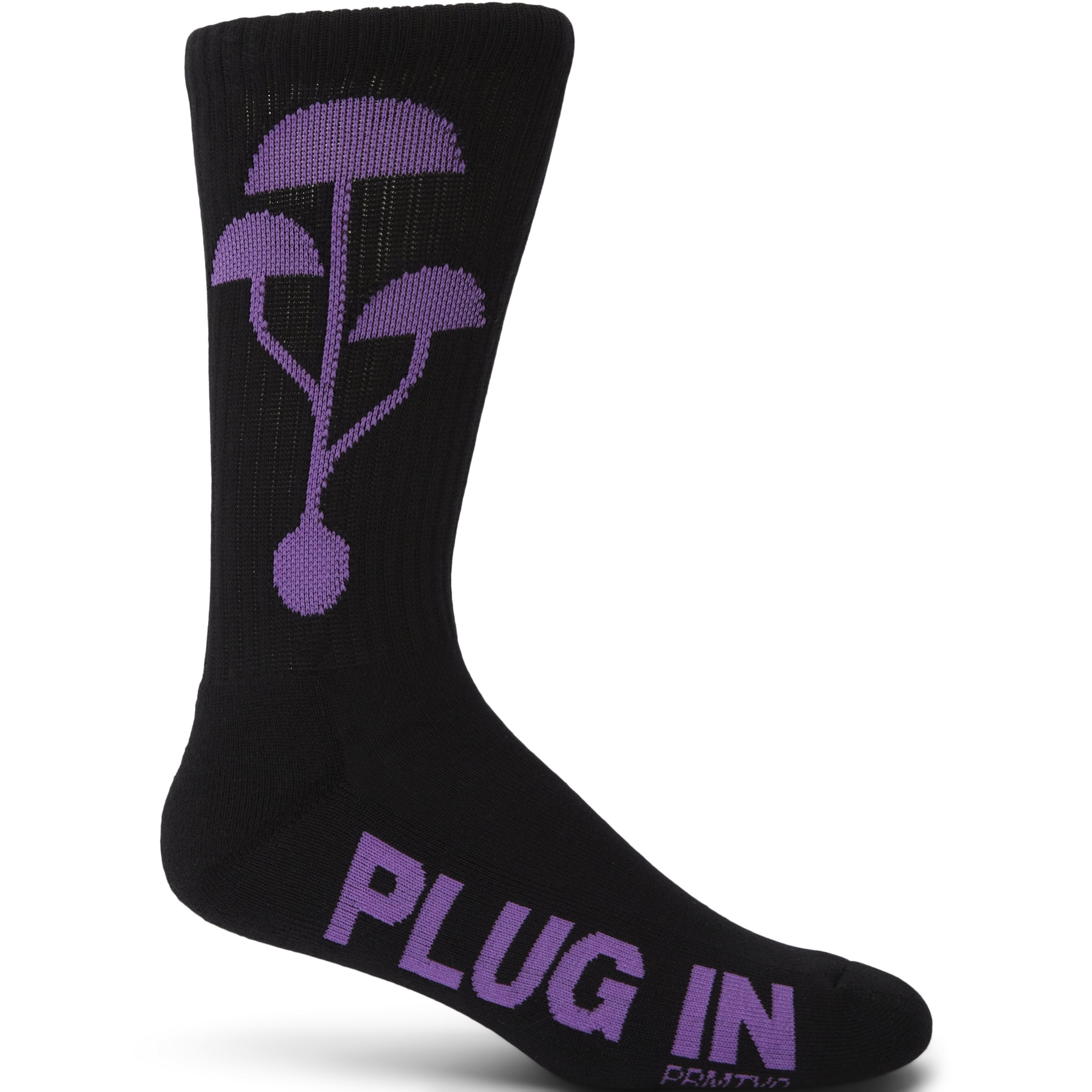 Plug in Socks - Strømper - Sort