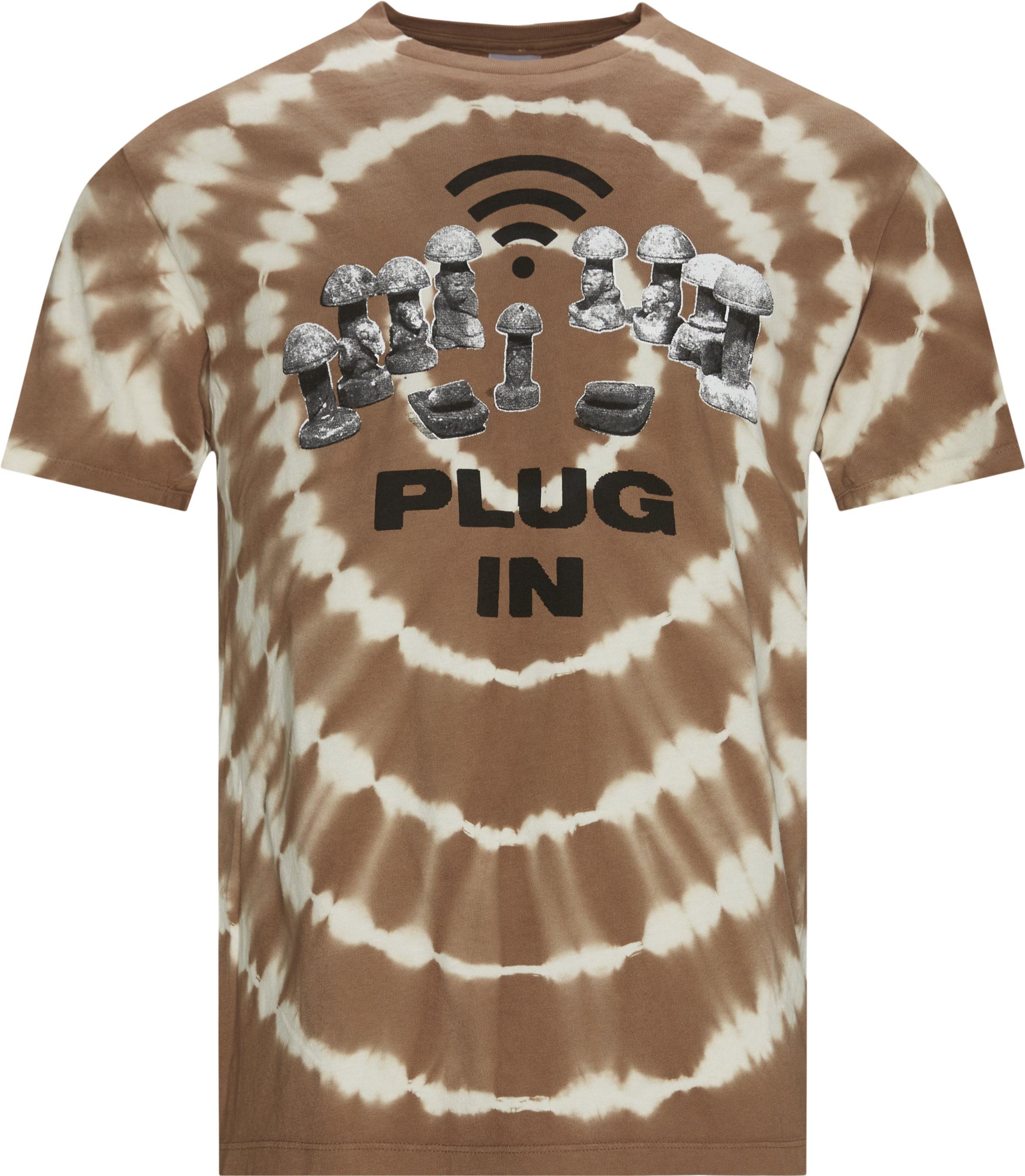 Microdose Plug In Tee - T-shirts - Regular fit - Brun