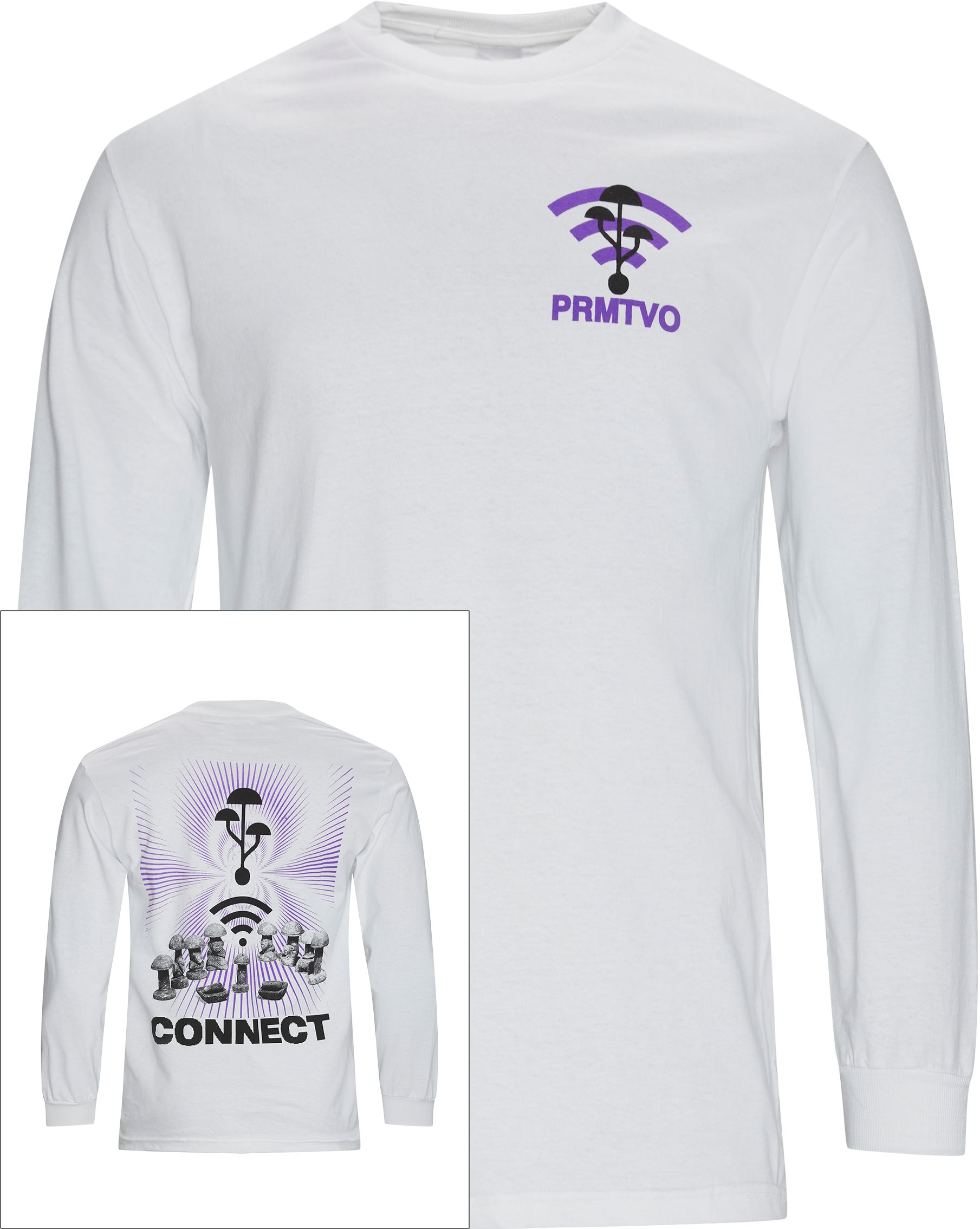 Microdose Connect LS Tee - T-shirts - Hvid