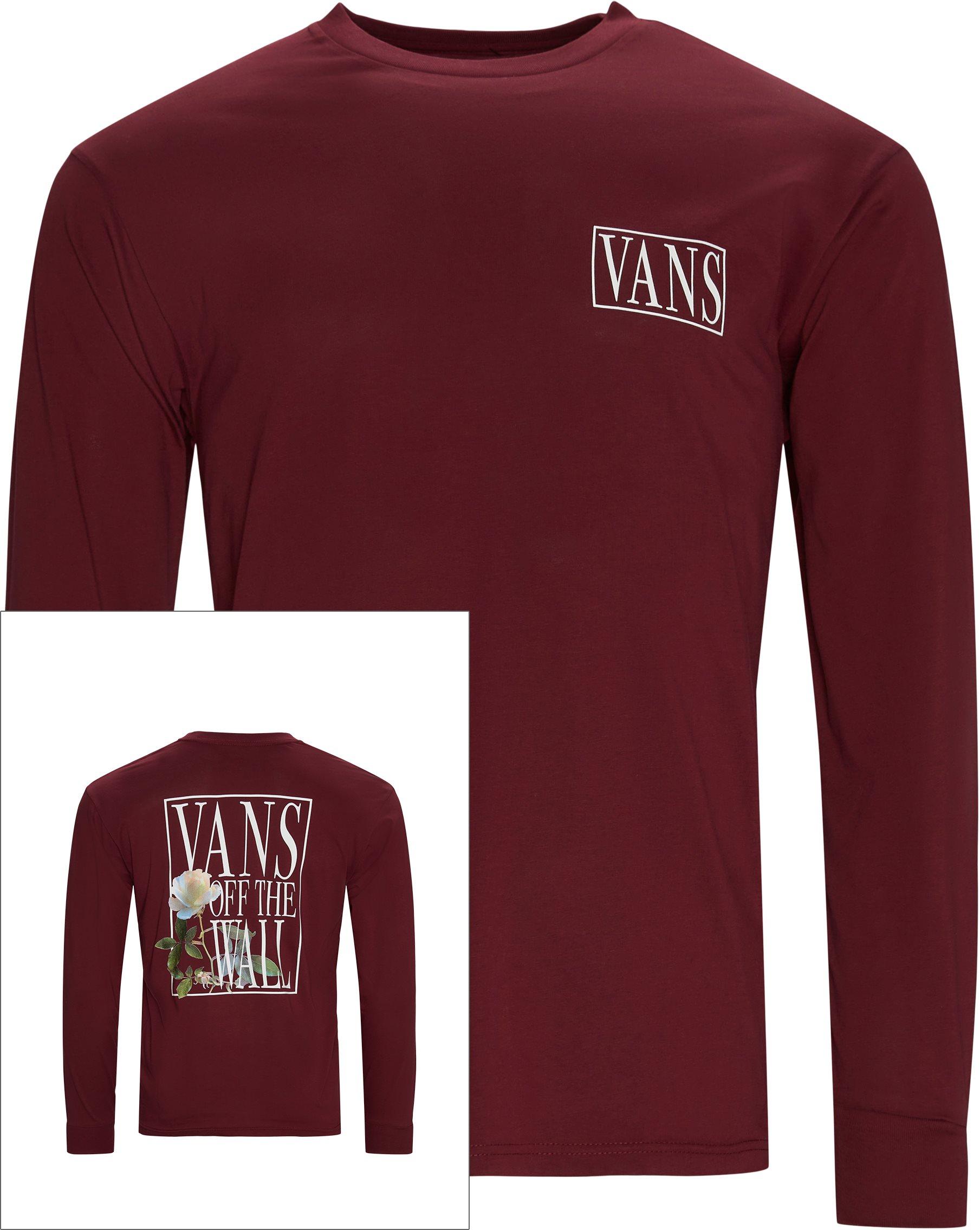 Rose Box LS Tee - T-shirts - Regular fit - Bordeaux