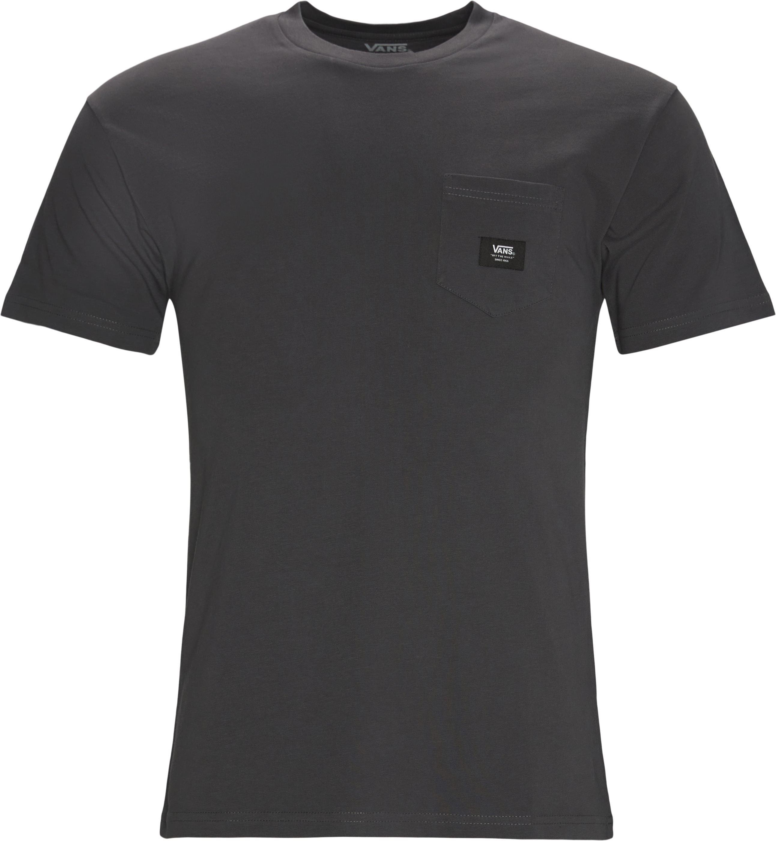 Woven Pocket Tee - T-shirts - Regular fit - Grå