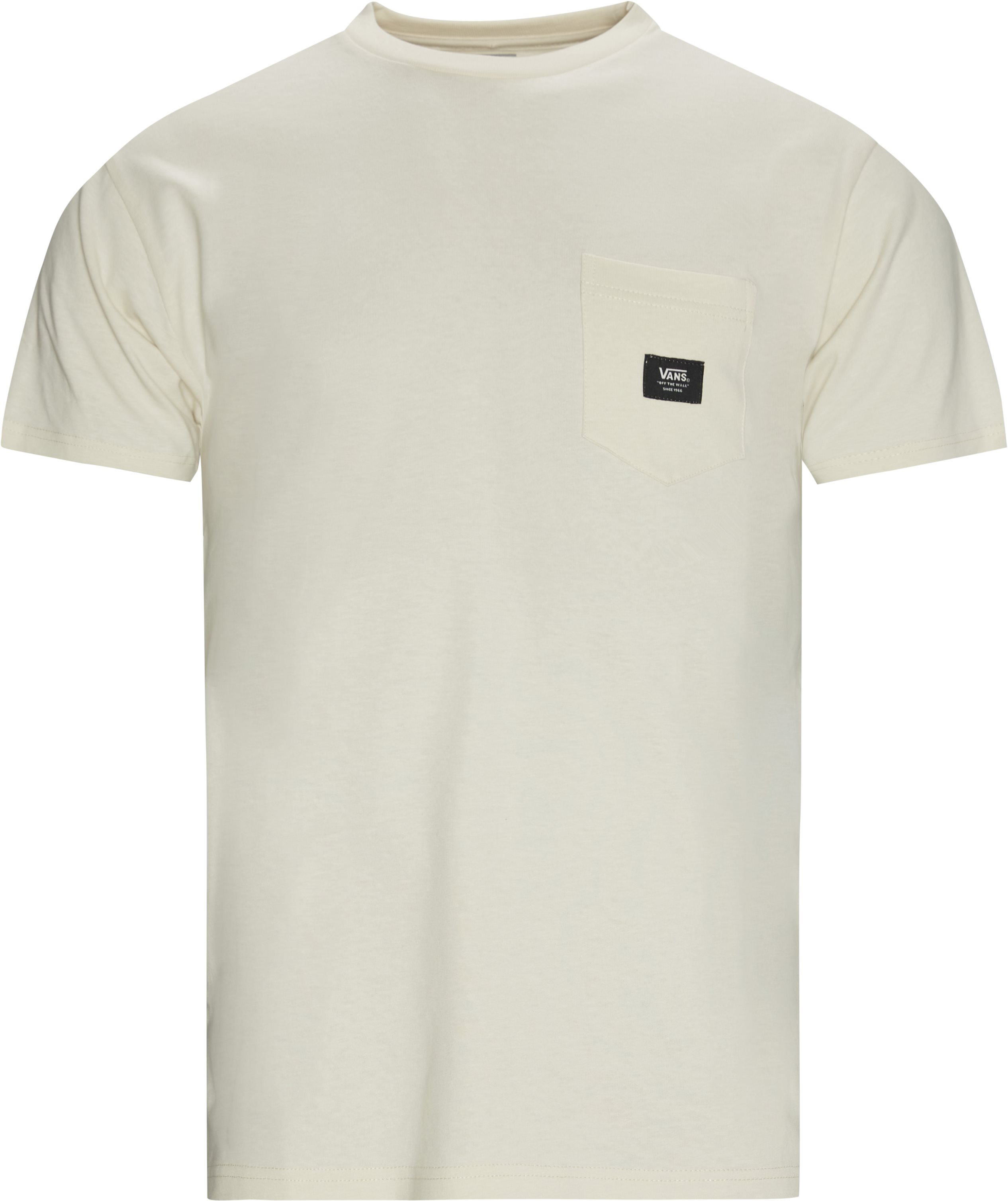 Woven Pocket Tee - T-shirts - Regular fit - Hvid