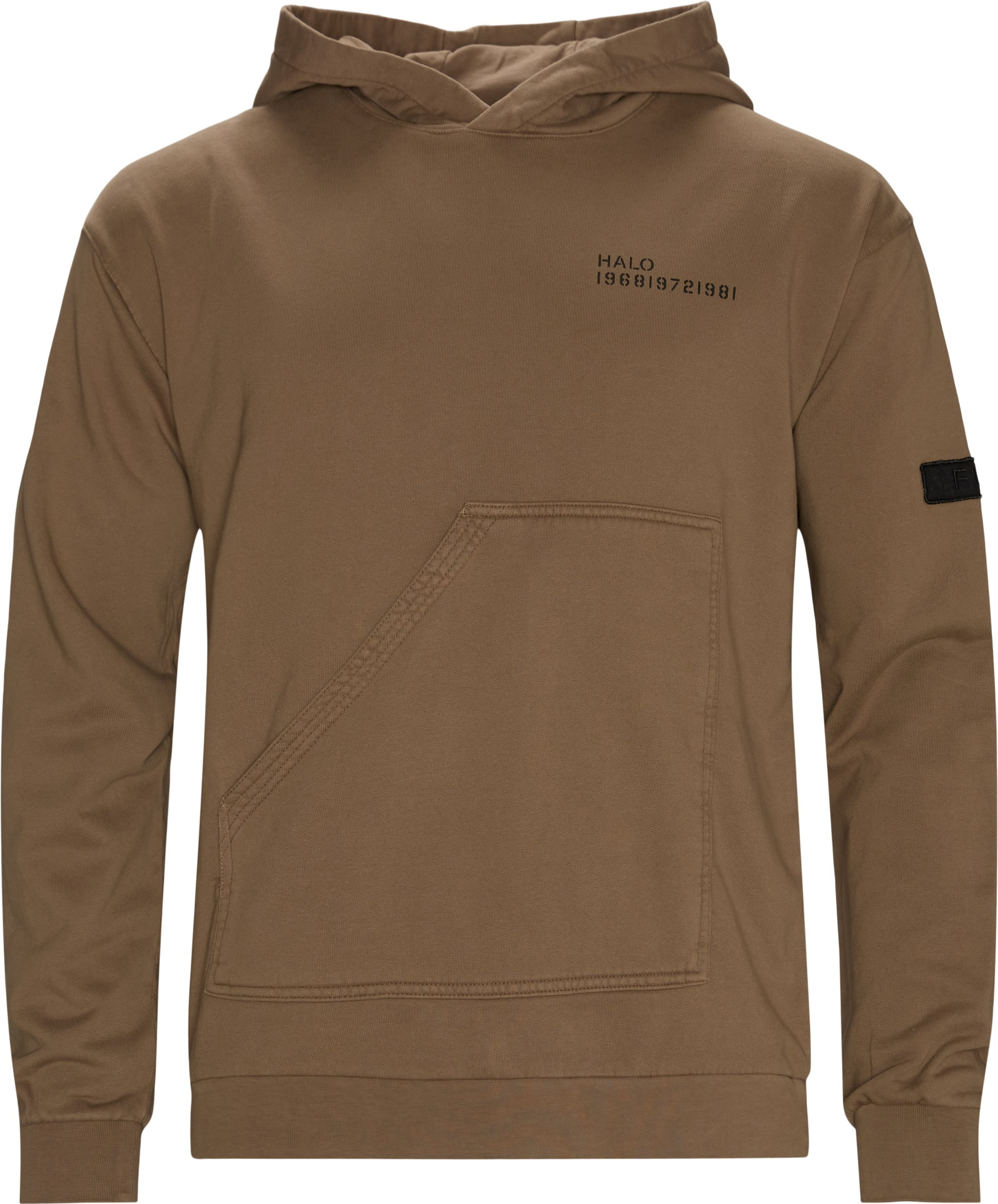 Cotton Hoodie - Sweatshirts - Regular fit - Sand