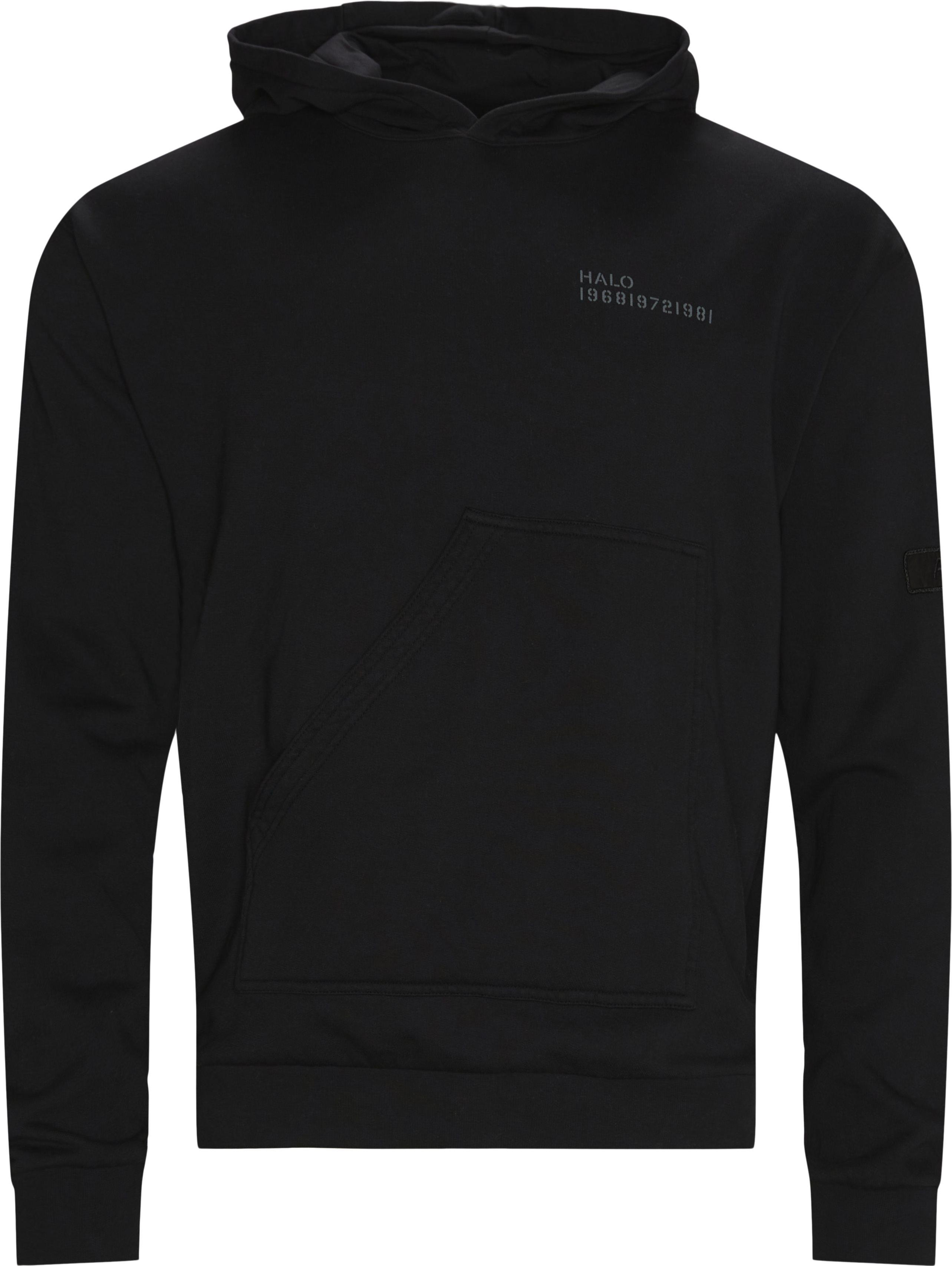 Cotton Hoodie - Sweatshirts - Regular fit - Svart