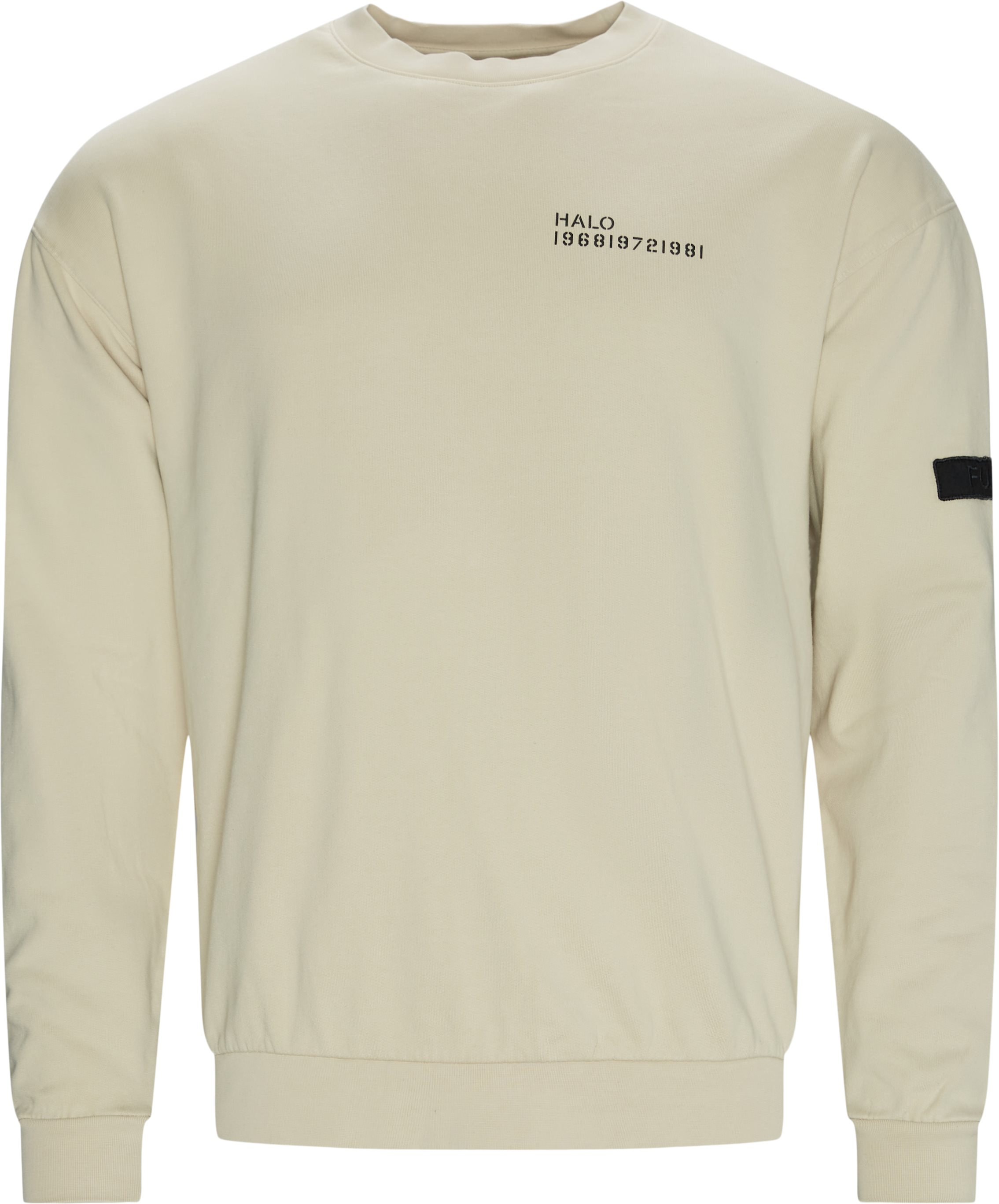 Cotton Crewneck - Sweatshirts - Regular fit - Sand