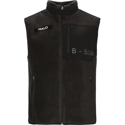 Halo Fleece Vest Regular fit | Halo Fleece Vest | Sort