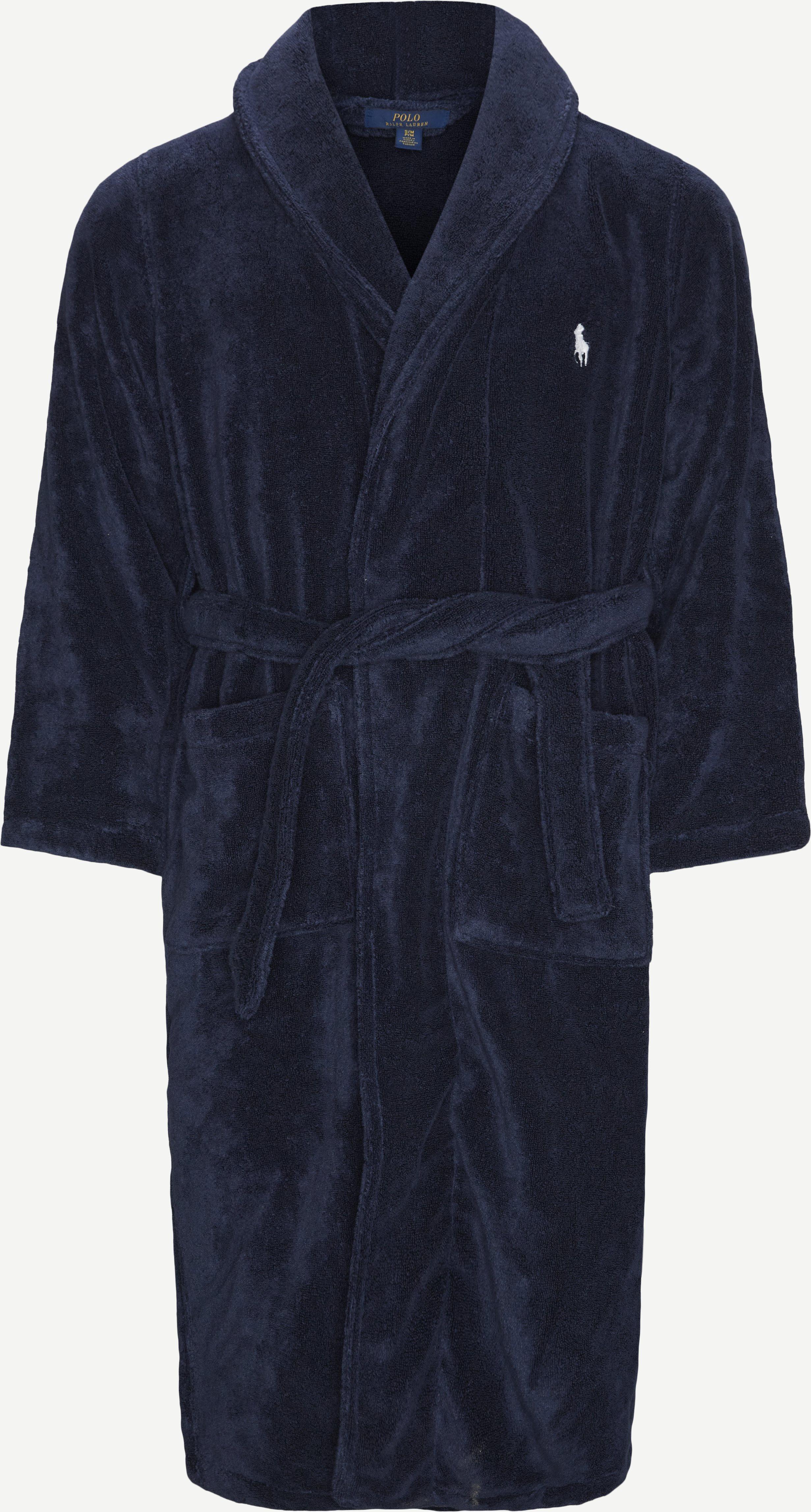 Frotté Morgenkåbe - Undertøj - Regular fit - Blå