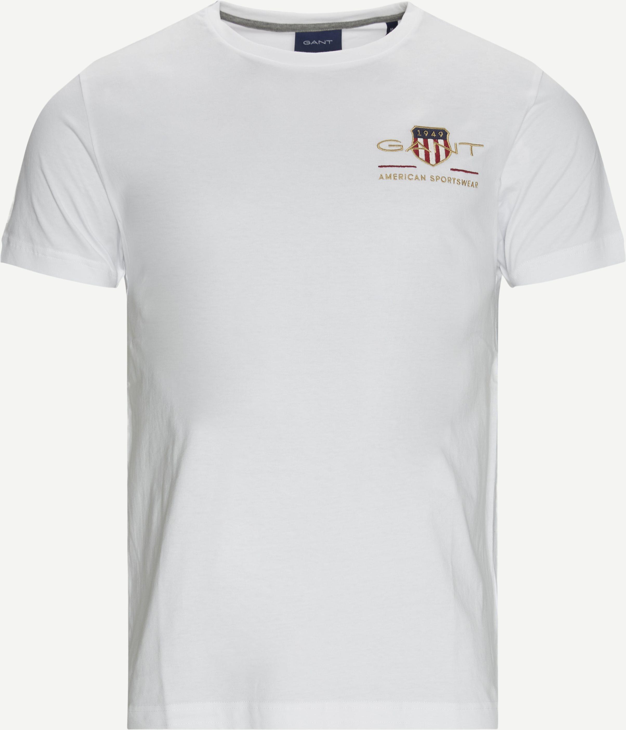 Shield Logo Tee - T-shirts - Regular fit - Hvid