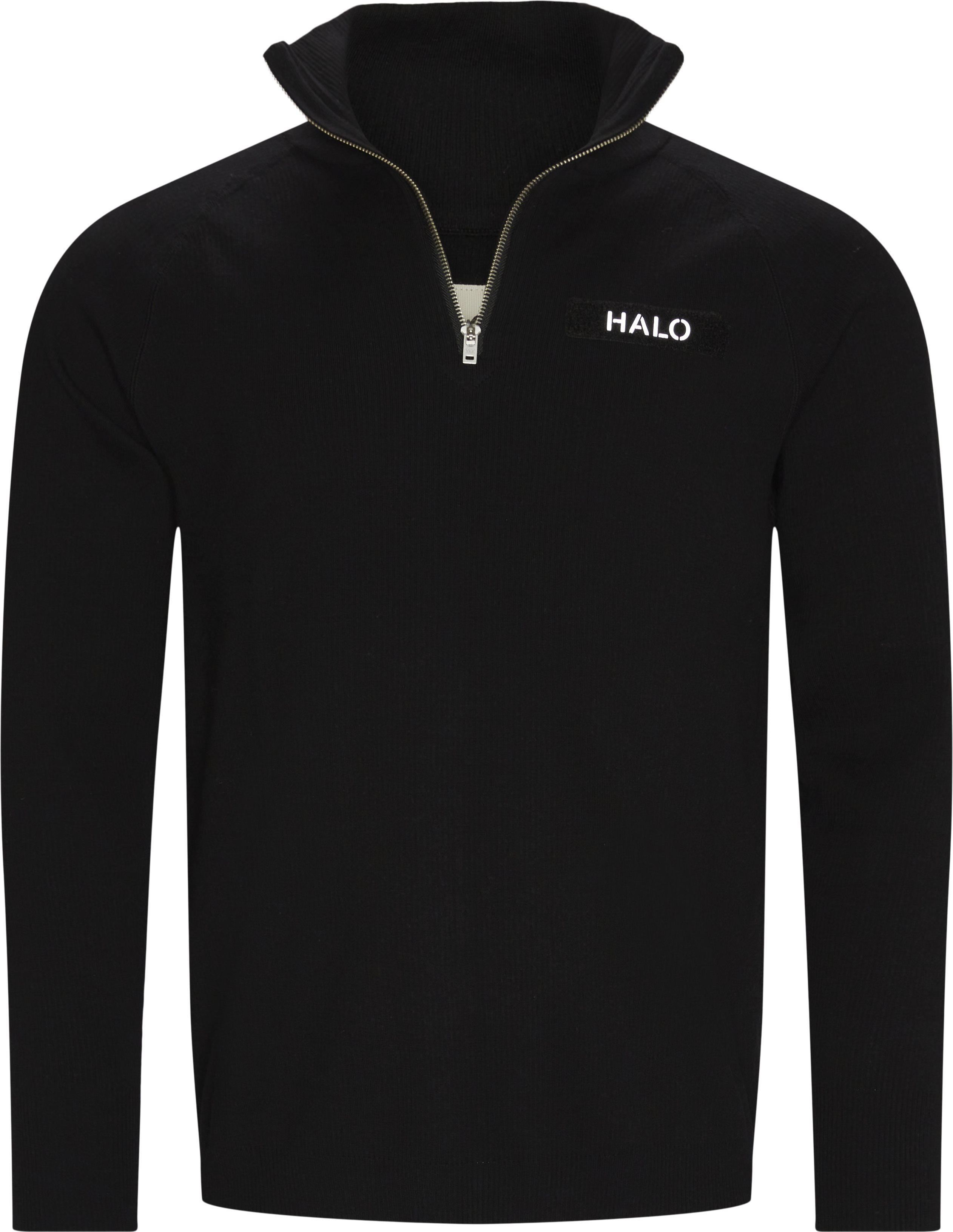 Half Zip Sweatshirt - Sweatshirts - Regular fit - Svart