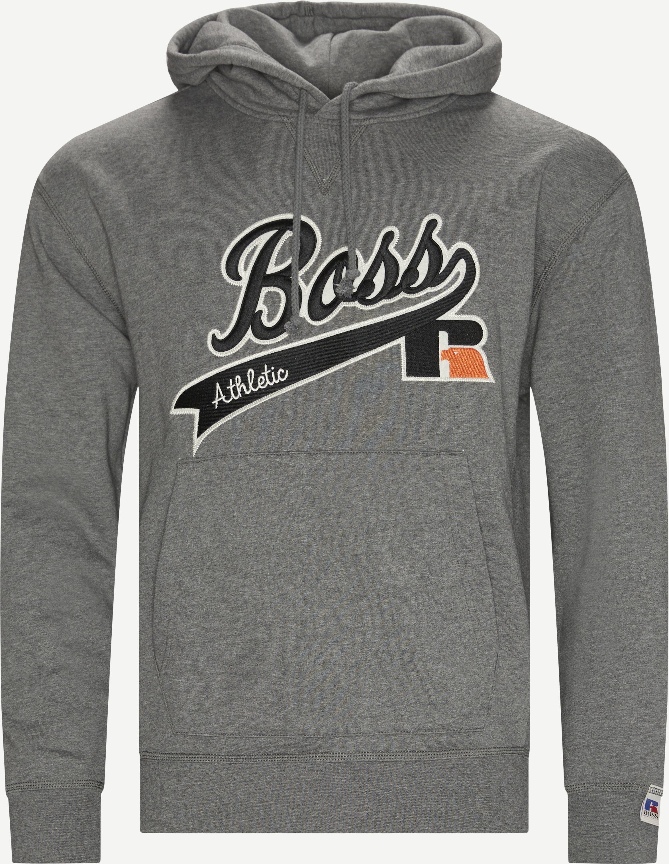 BOSS x Russel Hooded Sweatshirt - Sweatshirts - Regular fit - Grå