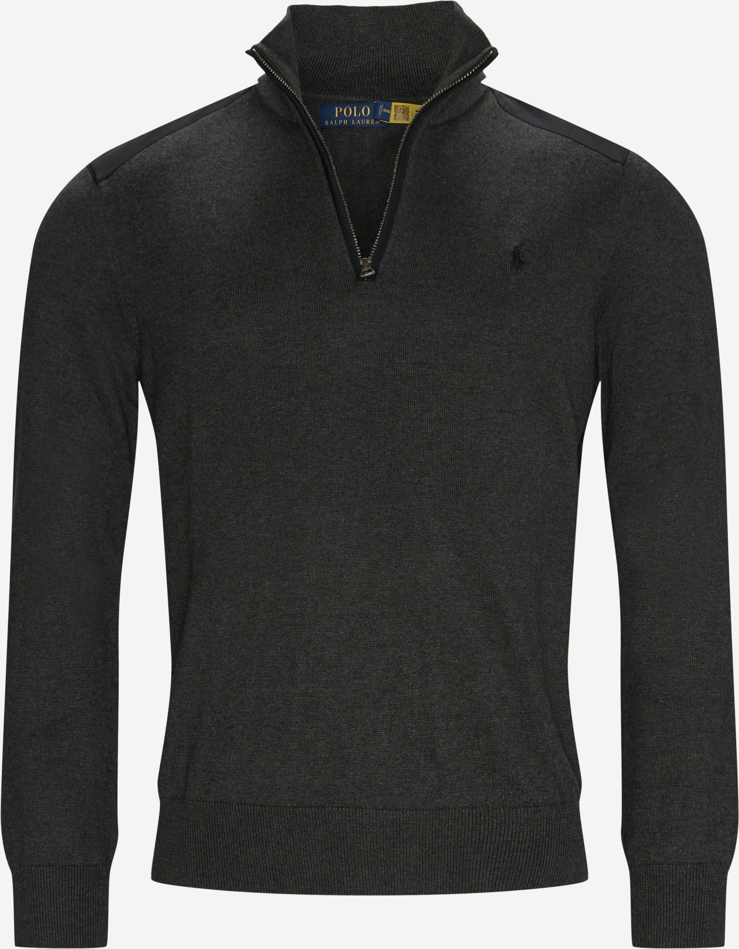 Half Zip Sweatshirt - Sweatshirts - Regular fit - Grå