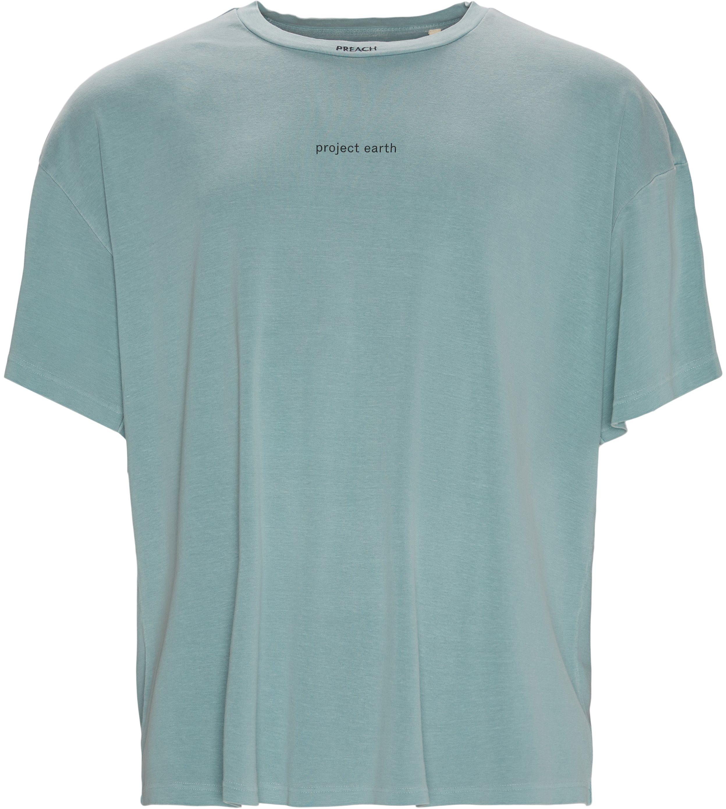 T-shirts - Oversize fit - Turkos