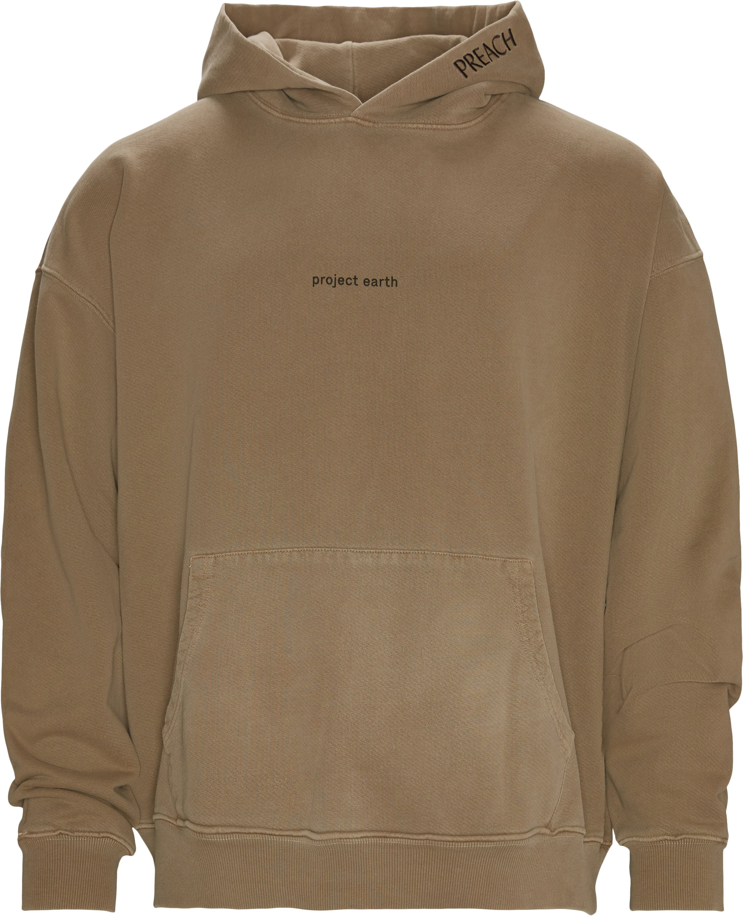 Oversized project earth hoodie - Sweatshirts - Oversize fit - Brun