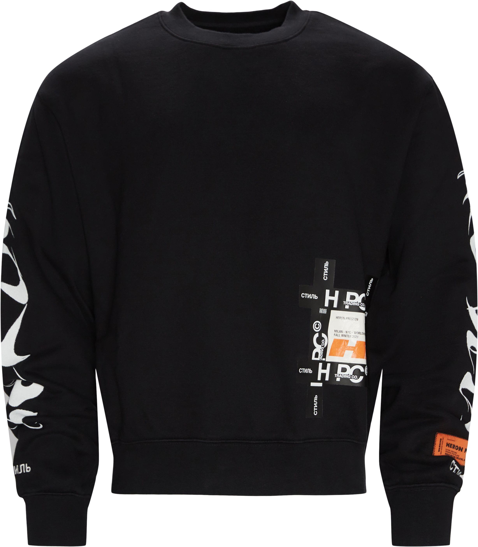 Hp Brush Crewneck - Sweatshirts - Oversize fit - Sort