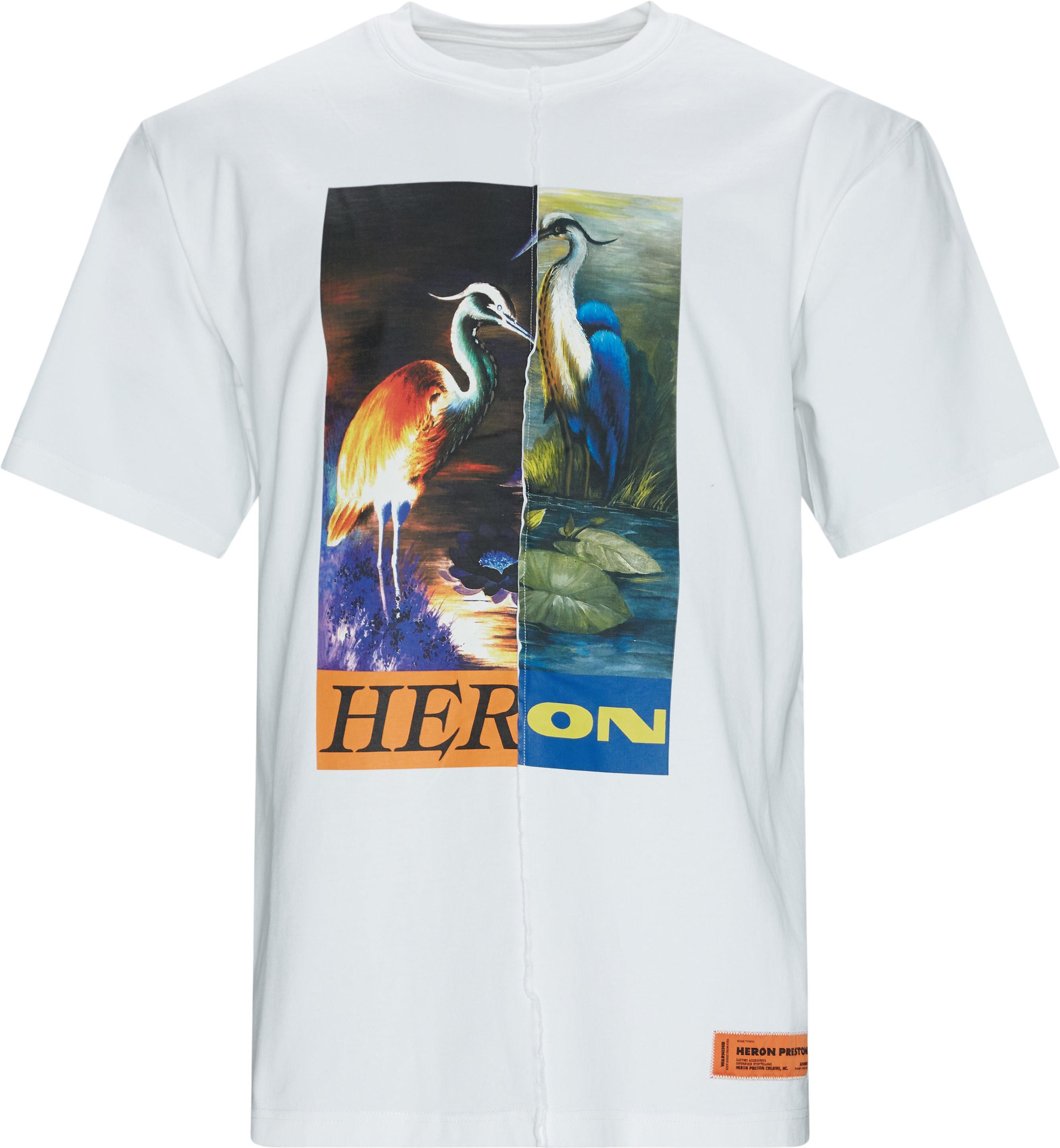 Bird Tee - T-shirts - Oversize fit - Hvid