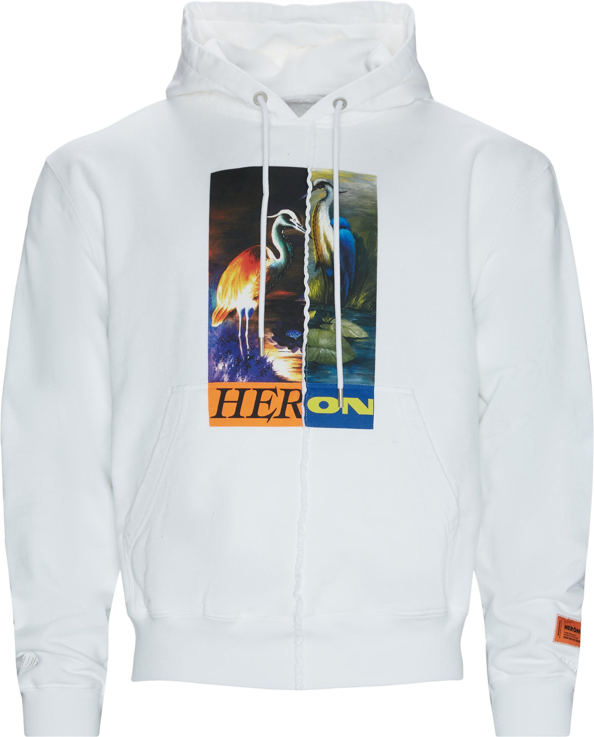 Print Sweatshirt - Sweatshirts - Oversize fit - Hvid